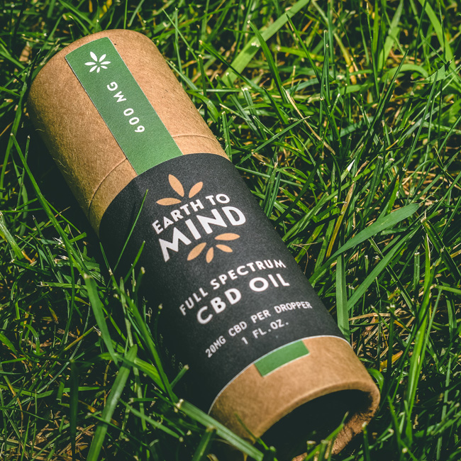 CBD packaging design for Earth to Mind
