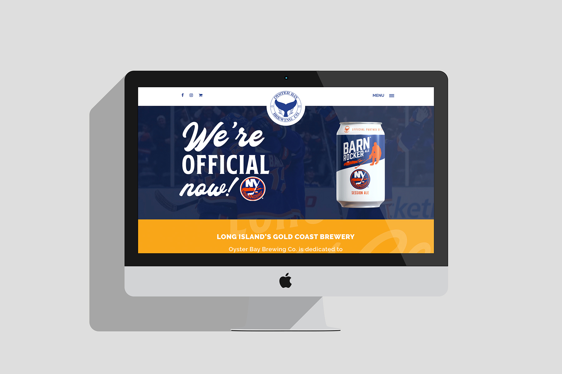 oyster bay brewing website design