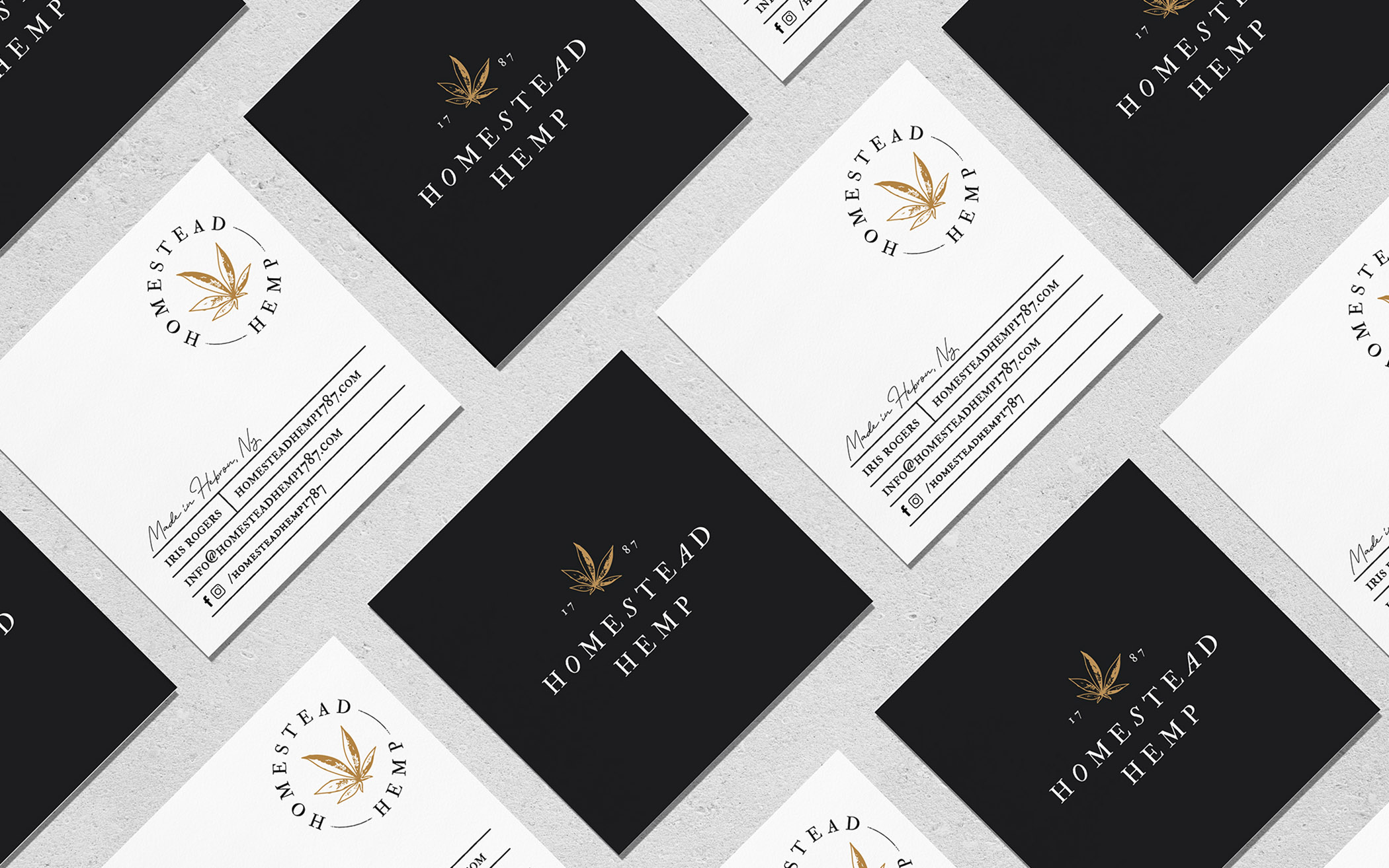 homestead hemp business cards
